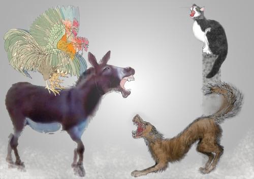 4 animal cardC