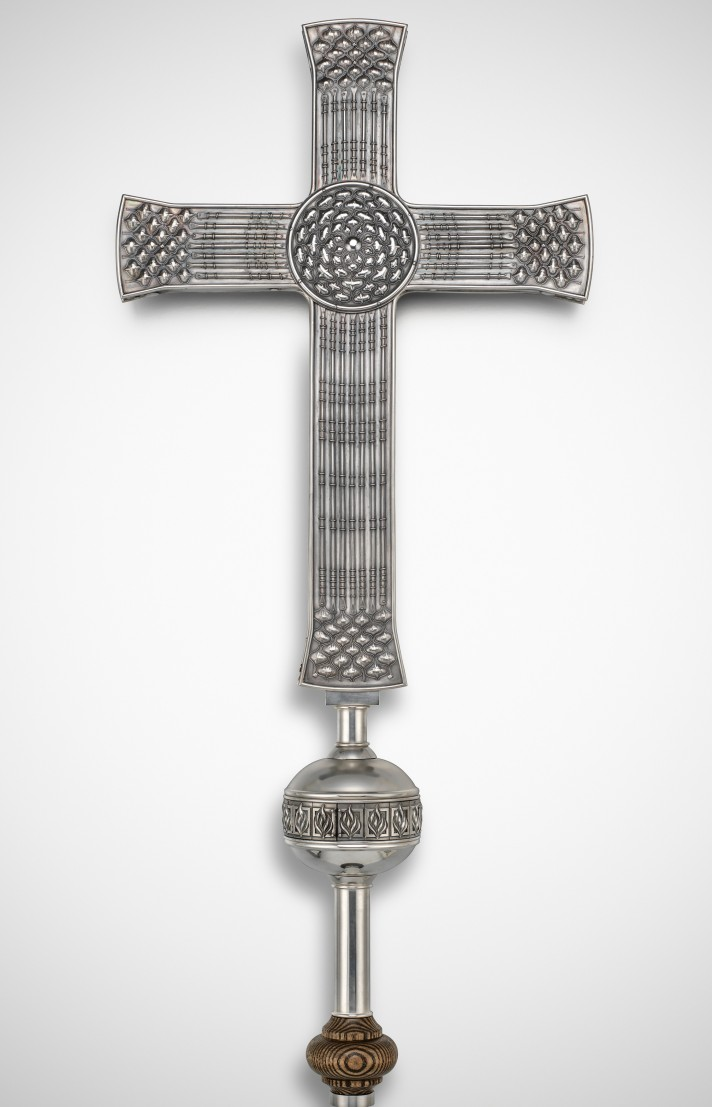 Wired side of cross X