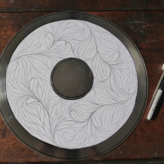 Drawing transferred to silver